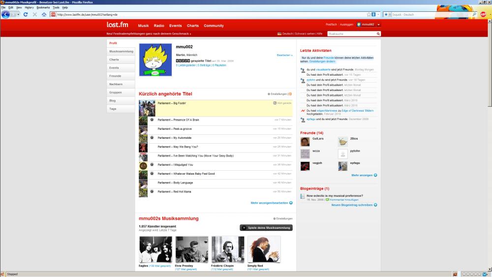 last.fm-Profilseite