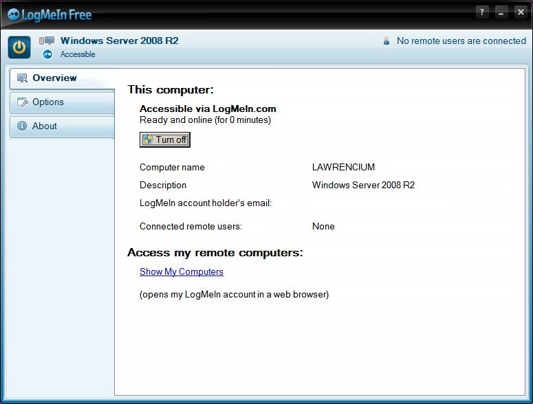LogMeIn/Bildschirm