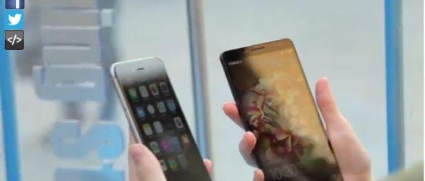 Huawei Ascend Mate 7 vs. iPhone