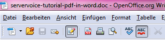 Text in PDF Open Office