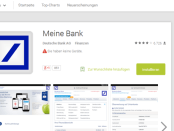 Banking App im Google Play Store
