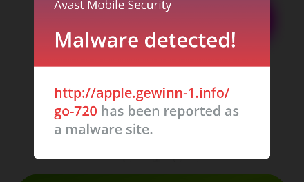 Avast iPhone Scam Malware
