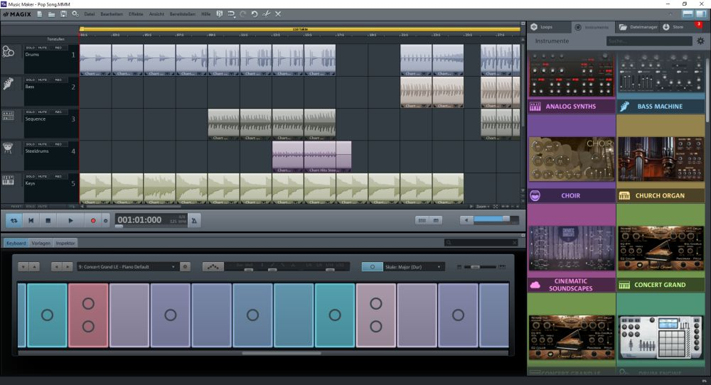 Testbericht Magix Music Maker Premium Edition - Servervoice