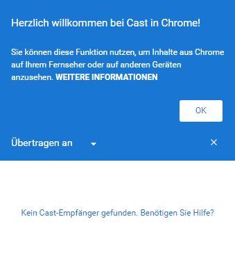 Chrome Cast Erweiterung