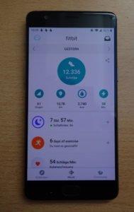 Fitbit Ionic App Homescreen