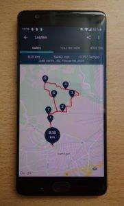Fitbit Ionic App Laufstrecke
